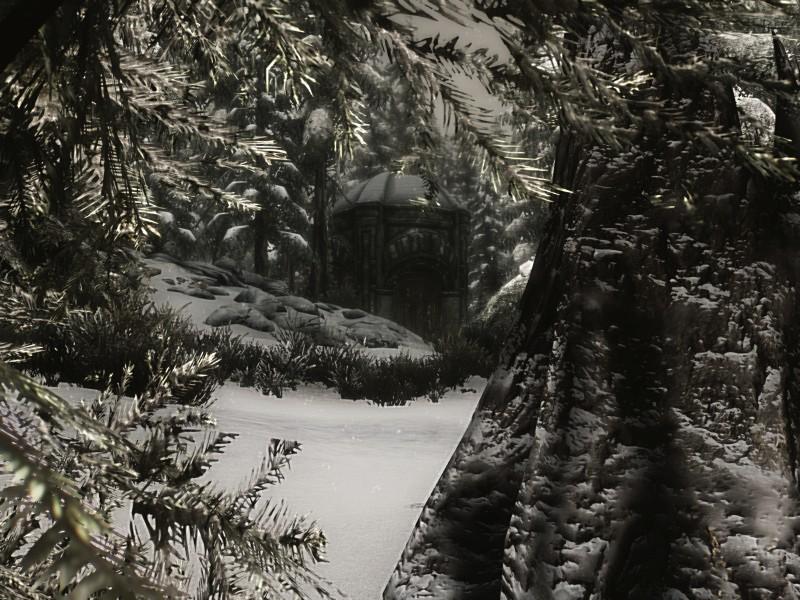Ruinen im Schnee