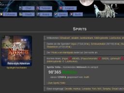 Spirits Hauptseite