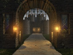 Burg bei Nacht - alte version